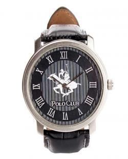 Polo Club Mens Black Dial Watch