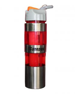 Canopus Silver And Red Water Bottle