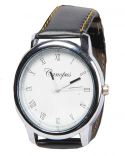 Canopus Men White Dial Watch (Black & Yellow strap)