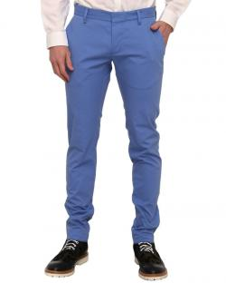 Yepvi Royel Blue Slim Fit Trousers For Men