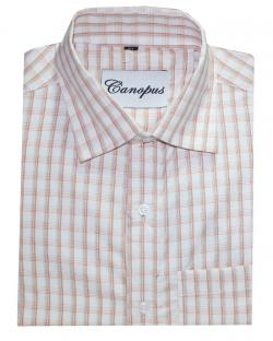 Canopus Brown Checked Shirt