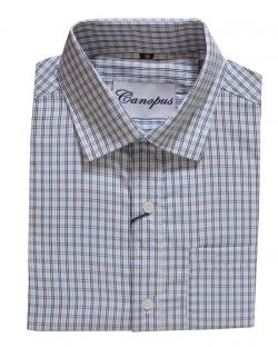 Canopus black and blue Checked Shirt