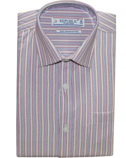 Republic Pink & Brown Striped Shirt
