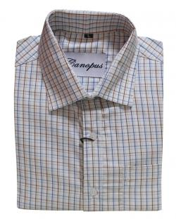 Canopus white and blue  Checked Shirt
