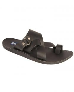 Canopus Dark Black Casual Sandals For Mens