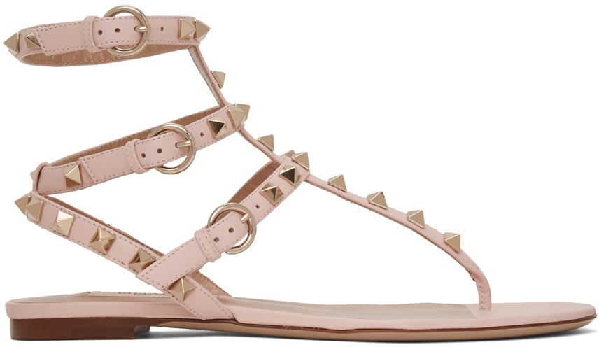 valentino-pink-valentino-garavani-rockstud-caged-sandals