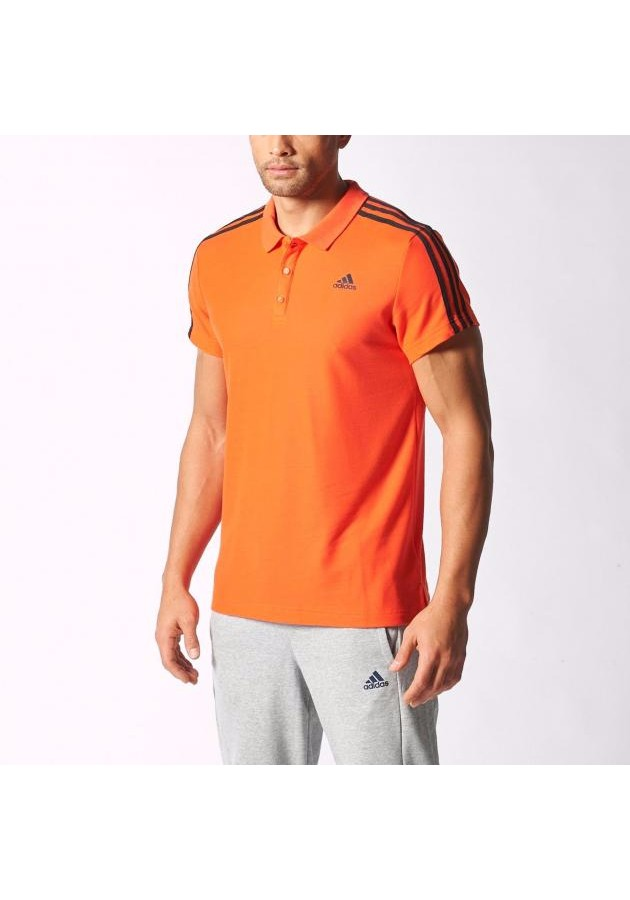 ... Adidas 3S Essentials Polo (Orange). Zoom