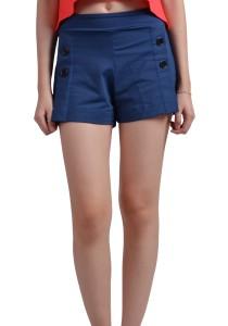 ViQ Button Shorts (Dark Blue)
