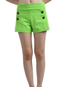 ViQ Button Shorts (Green)