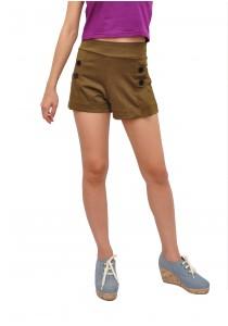 ViQ Button Shorts (Gold)