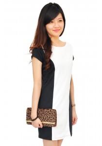 ViQ Character Shift Dress (Black White)