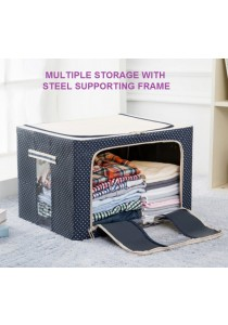 Durable Foldable Oxford Storage Box Organizer Steel Frame (66L)
