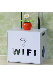 Wifi Modem Router Cable Adaptor Storage Box Organizer (Double Layer)