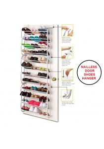 Nailless Door Hanging Shoes Rack Organizer Hanger (12 Layer)