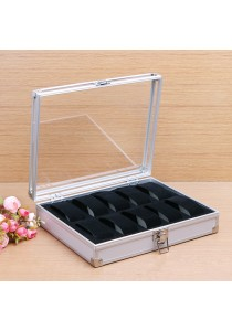 Elegant Aluminium Watch Box 10 Slots