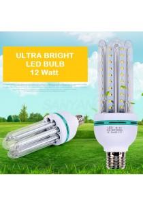LED Light Bulb E27 12w Glass White Light U-Tube