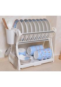 Dish Drainer 2 Layer Washing Plates Rack Trendy Design