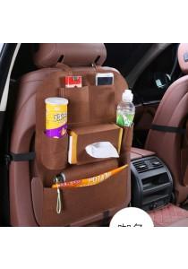 Car Back Seat Organizer Storage Compartment Tissue Magazine Umbrella (Brown)