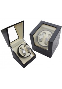 Auto Rotate Watch Winder Watch Box Single Winder (B2+0) Black White