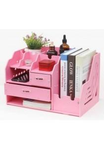 DIY Makeup Cosmetic Stationary Book Box Acrylic Washable (Pink)