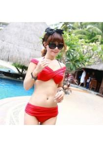 Red Modern Trend Two Piece Bikini