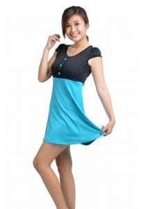 ViQ Stripes Skater Dress (Blue)