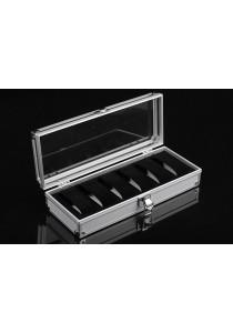 Elegant Aluminium Watch Box 6 Slots