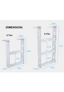 Acrylic Side Fridge Refrigerator Hang Rack Kitchen Cabinet Organizer - 2 Tier