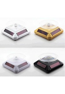 Solar Powered Rotating Display 2 Way (Can Powered by Battery) Gold