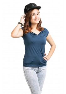 ViQ Sweetheart Top (Dark Blue)