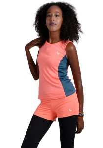 ViQ Ladies Sport Singlet (Orange Grey)