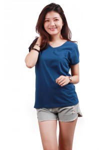 ViQ Neck T-Shirt (Dark Blue)