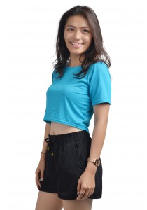 ViQ Candy Cropped Tee (Blue)