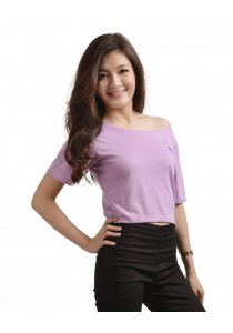 ViQ Candy Cropped Tee (Light Purple)