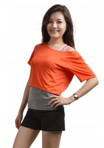ViQ Candy Cropped Tee (Orange)