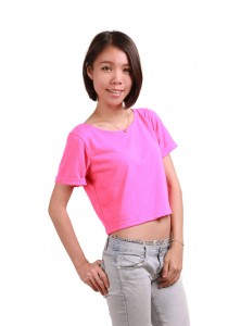 ViQ Candy Cropped Tee (Pink)