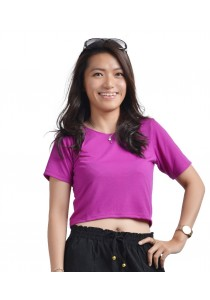 ViQ Candy Cropped Tee (Purple)