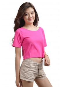ViQ Candy Cropped Tee (Rose)