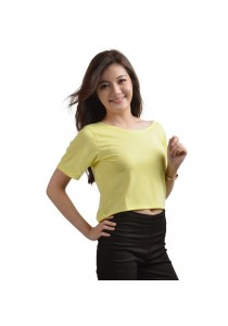 ViQ Candy Cropped Tee (Yellow)