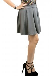 ViQ Pleated Skirt (Grey)