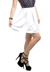ViQ Pleated Skirt (White)