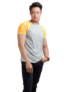 ViQ Men Athlete Tee (Light Grey)