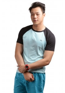 ViQ Men Athlete Tee (Light Blue)