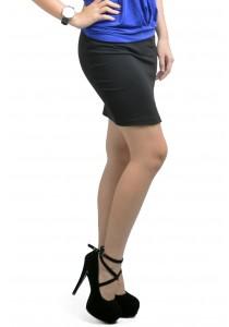 ViQ Open Slit Pencil Skirt (Black)