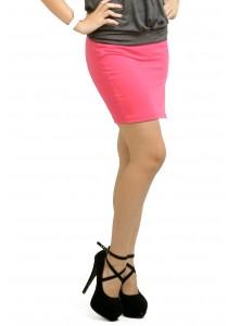ViQ Open Slit Pencil Skirt (Pink)
