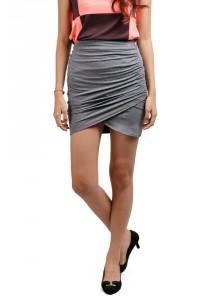 ViQ Wrap Skirt (Grey)