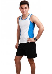 ViQ Mens Running Singlet (Blue)