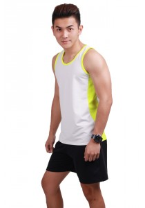ViQ Mens Running Singlet (Highlight Green)