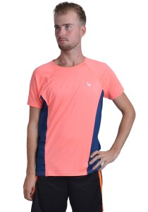 ViQ Men's Sport T-Shirt (Orange Navy)
