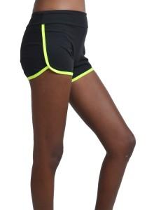 ViQ Active Sports Shorts (Black Highlight Green)